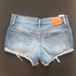 "Levi's ""Wedgie"" denim cut-off shorts"